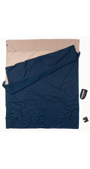 Cocoon TravelSheet Inlet Doublesize Silk tuareg/ultramarine blue